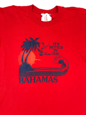 Red It's Better In The Bahamas Tee