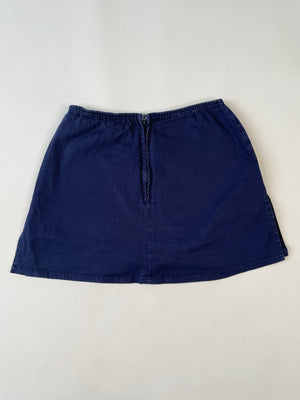 Navy Cotton Skort