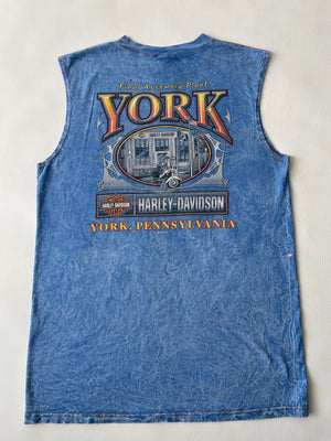 1998 Thrashed Sleeveless Harley Davidson Eagle Tee