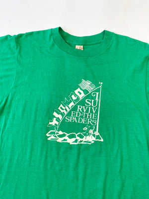 1980's Kelly Green Flags Tee