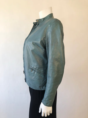 1960's Soft Leather Jacket w/ Zippers