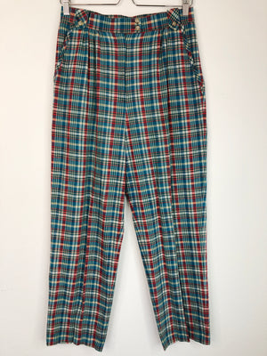 1980's Plaid Pleated Slacks