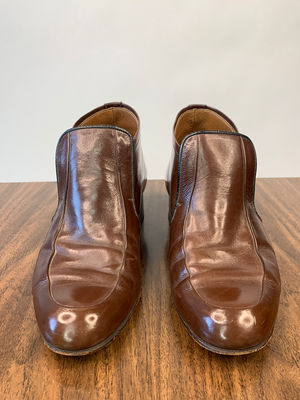 1960's Brown Leather Ankle Boots
