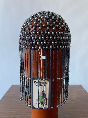 Flapper Style Beaded Cap