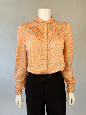 Amazing Bobbie Brooks Peach Floral Top