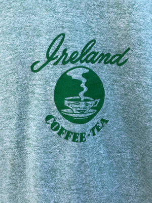 Soft & Thin Green Ireland Coffee Ringer Tee - S