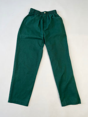 Forest Green 80's Cotton Slacks