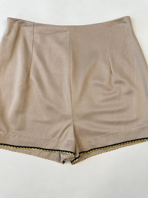 Champagne High Waisted Shorts