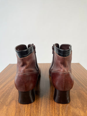 London Fog Brown Leather Booties