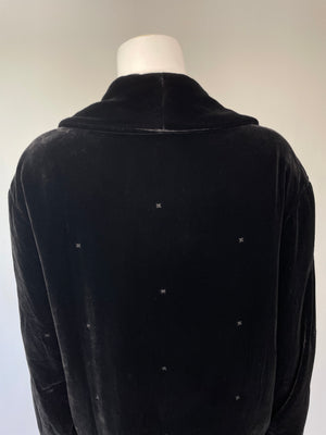 Super Soft Laura Ashley Black Velvet Cocoon Coat