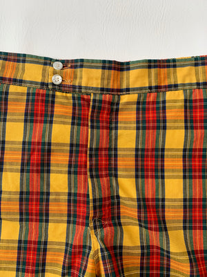 60's Plaid Jantzen Swim Shorts