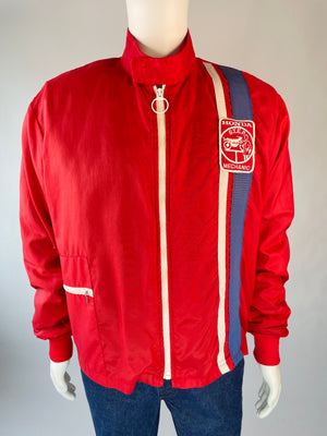 1960's Honda Mechanic Red Jacket w/ Quilted Lining