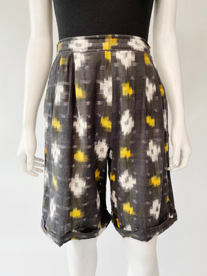 1980's Black & Yellow Elastic Shorts