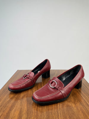 Y2K Coach Oxblood Loafers