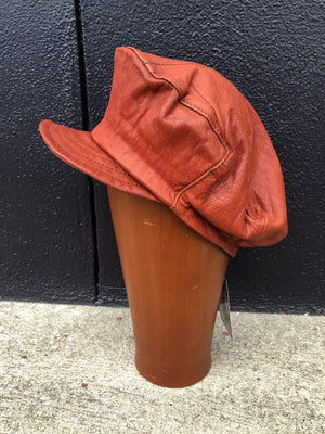 70's Leather Cap