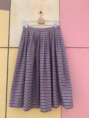 Mid-Century Striped Skirt