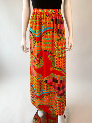 Flower Power Maxi Skirt