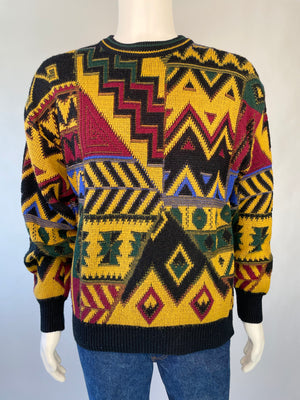1980's Geometric Pattern Sweater