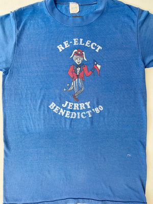 Paper Thin 1980 Re-Elect Jerry Benedict Tee