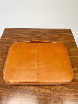Brown Leather Zip-Around Agenda