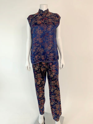 Two-Piece Cheongsam Top & Pants Set