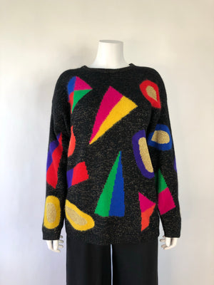80's Angora Wool Blend Pullover Sweater