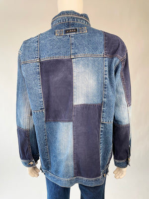 Super Cool Corduroy Patchwork Denim Jacket
