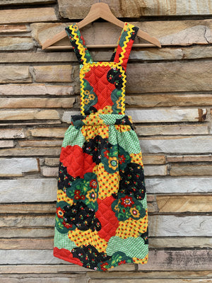 Kiddo 70's Quilted Pinafore - 7