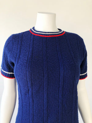Navy Mod Sweater Top