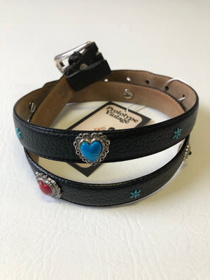 Super Cute Black Conco Charm Belt