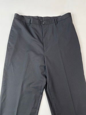 Black 80's Pinstriped Pants