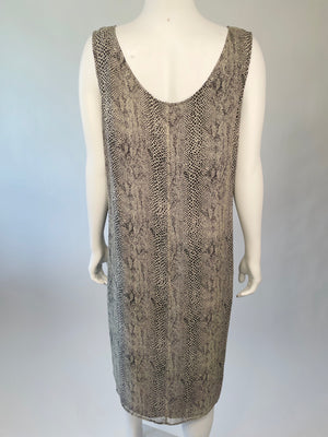 Silk Snakeskin Tank Dress