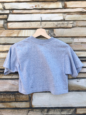 1983 Heather Grey Racing Cropped Tee - M