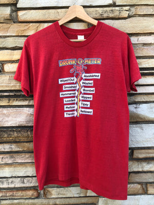 Super Soft 80's Drunk-O-Meter Tee - M