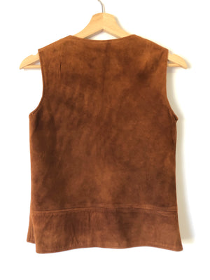 60's Soft Brown Suede Vest - S