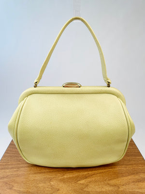 1960's Green Whip-Stitched Hand Bag