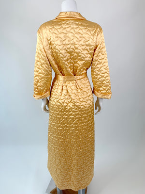 Golden Quilted Mid-Century Robe