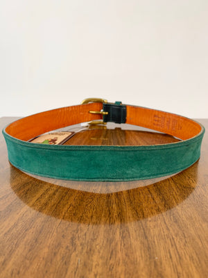 Green Leather GAP Belt