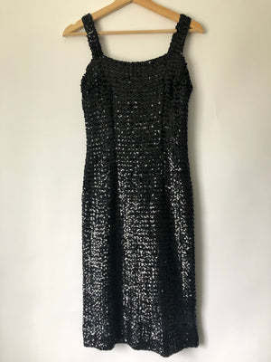 Gorgeous Black Sequin Dress - S