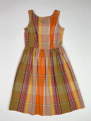 Orange Plaid Dress