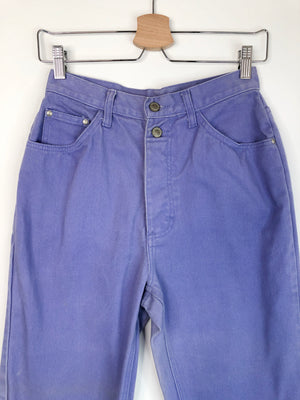 1980's Purple Gitano Button-Up Jeans