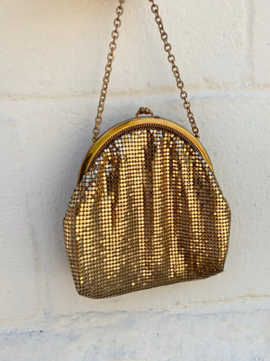 Gold Metal Mesh Mini Purse