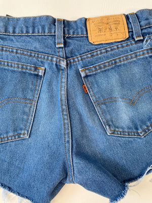 Levi's Student Orange Tab Shorts