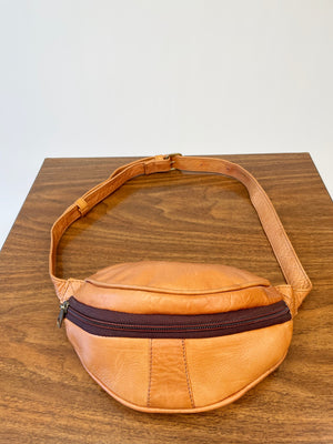 Caramel Leather Petite Hip Sack