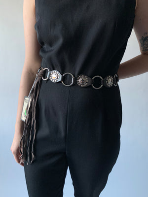 Leather Fringe & Ring Belt