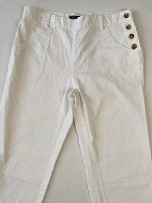 Ralph Lauren White Wide-Leg Pants