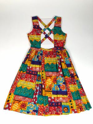 80's Tropical Sundress - M