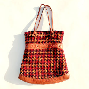 Leather & Wool Tote
