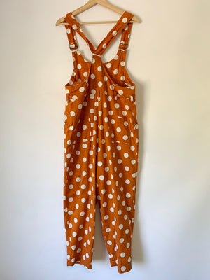 Texas Polka Dot Overalls - XL