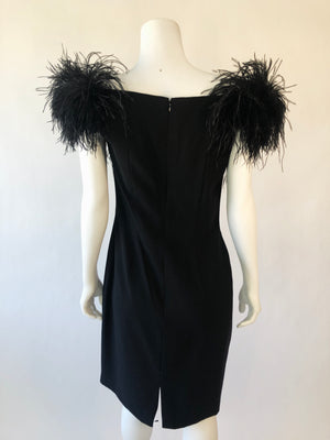 Black Cocktail Dress w/ Shoulder Detail